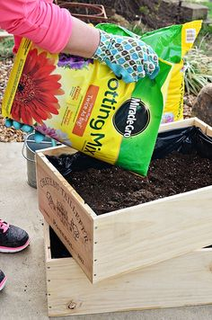In partnership with influencer @tidymom - Whether you are growing strawberry plants or lettuce plants (or any type of plants for that matter), starting it off with Miracle-Gro Potting Mix is always a smart choice. Plus, cute wine boxes never hurt the aesthetic either :) #ad
