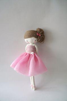 Ballerina rag doll plush toy cloth art doll by lassandaliasdeana