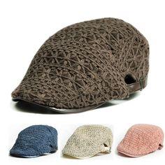 b6a66a7d72e41 New Women Lace Crochet Gatsby Ivy Cap Sun Hat Golf Driving Summer Cabbie  Newsboy
