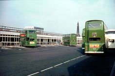 Bus terminus - Pier Head. Connect to the Mersey ferries. 1970s?