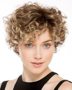 Buy European Hairstyle Womens Wigs Heat Friendly Synthetic Hair Short Curly Wig Ombre Brown Blonde Color Wig Curly Wavy Hair Wig Perruque for Women Party Daily Natural Wigs Custom Made Wigs at Wish - Shopping Made Fun Short Curly Wigs, Short Curly Haircuts, Short Wavy Hair, Curly Hair Cuts, Curly Bob Hairstyles, Curly Hair Styles, Short Afro, Party Hairstyles, Natural Wigs