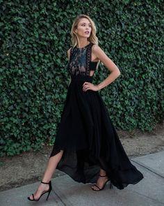 Angelic Maxi Dress - Black