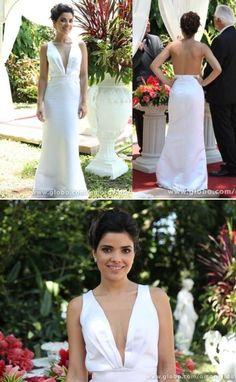 Vestido de novia escotado