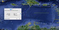 Map of the Caribbean Sea and Basin - the rectangular plain fits Plato's description . . .