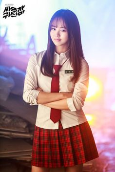 Girl in Uniform 😘 Korean Women, Korean Girl, Asian Woman, Asian Girl, School Uniform Outfits, Kim Sohyun, Prettiest Actresses, Girls Uniforms, Beautiful Asian Women