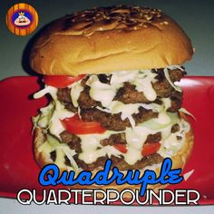 QUADRUPLE Quarter Pounder #donjar #burger #bigburger