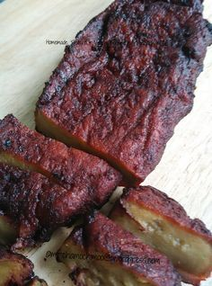 Homemade 'Seitan' & Vegan Roasted Barbecue 'Pork'/Char Siu ~ 麵筋, 素叉燒 It is a rare chance that I'll make this 'seitan'. Since I saw lots of my Face…