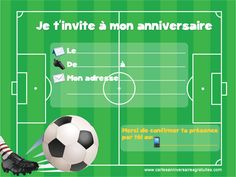 Invitation anniversaire football à imprimer  … Continue reading →