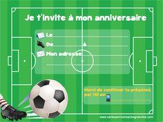Invitation anniversaire football à imprimer
