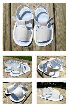 sandalia bebe blanca DIY 3 Cómo hacer unas sandalias de bebé Modelo Blanco