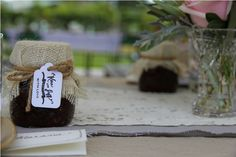 Preserves as wedding favours