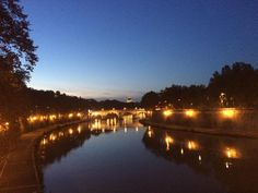 that romantic side of me loves to come back here  #Rome #Roma #holiday #Tiber #lights #travel #Italy #Romanholiday