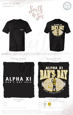 Alpha Xi Delta | AXiD | Dad's Day | Parents Weekend | Vintage T-Shirt Design | South by Sea | Greek Tee Shirts | Greek Tank Tops | Custom Apparel Design | Custom Greek Apparel | Sorority Tee Shirts | Sorority Tanks | Sorority Shirt Designs