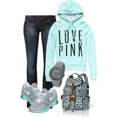 A fashion look from January 2013 featuring Victoria's Secret sweatshirts, CROSS Jeanswear jeans and NIKE athletic shoes. Browse and shop related looks.