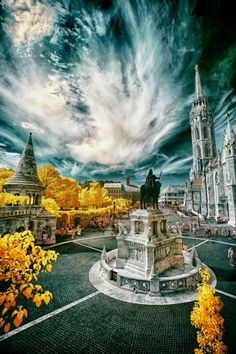 Castle Budapest Infrared Photography, Budapest, Statue Of Liberty, Castle, Travel, Statue Of Liberty Facts, Viajes, Statue Of Libery, Castles