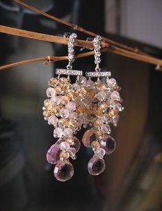 SALE Freesia-ametrine, rose quartz, citrine. $99.00, via Etsy.