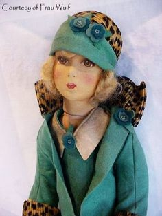 "This is a rare Dean's Rag Book ""Smart Set"" doll, made around 1927"