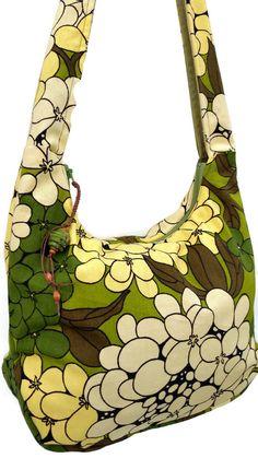 bc71606728 Hobo bag - cross body bag - Vintage fabric purse - avocado purse boho bag  bohemian bag - handmade purse - festival bag