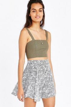 Kimchi Blue Hydrangea Mini Skirt