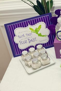 Hostess with the Mostess® - Fairy Purple & Lime - Tinkerbell Inspired- Pixie Dust