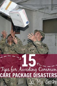 15 Tips for Avoiding Common Care Package Disasters - Easy mistakes to avoid (and some I hadn't thought of)! Avoid care package disasters, milspouse, d - Soldier Care Packages, Deployment Care Packages, Deployment Gifts, Military Deployment, Military Girlfriend, Military Spouse, Army Mom, Soldier Care Package Ideas, Deployed Boyfriend