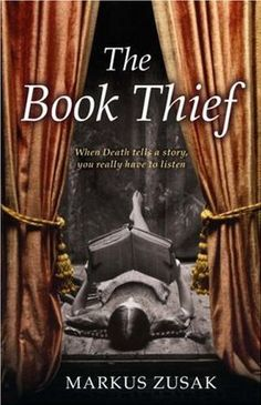 The Book Thief, by Markus Zusak. The Book Thief Markus Zusak, I Love Books, Used Books, Great Books, Books To Read, Big Books, Amazing Books, Fiction, The Book Thief