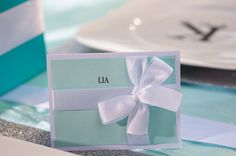 Tiffany & Co Name Cards by EmbellishedPaper on Etsy, $1.75