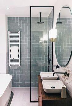 Ideas For Master Bathroom Remodel Shower Tile Layout Wood Bathroom, Modern Bathroom, Master Bathroom, Bathroom Ideas, Bathroom Furniture, Rustic Furniture, Small Bathrooms, Bathroom Colors, Minimalist Bathroom