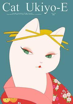 Japanese cat girl portrait