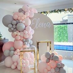 INSPIRATION💕 IDEAS💕 (@make_a_wish_ua) • Instagram photos and videos Ballons Pastel, White Balloons, Birthday Balloon Decorations, Baby Shower Decorations, Balloon Arch, Balloon Garland, Bridal Shower Balloons, Baby Girl Birthday, Backdrops For Parties