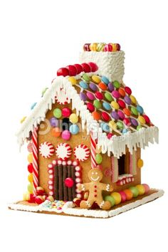 Casa de galleta de jengibre : Foto de stock