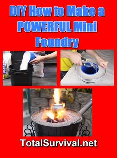 Learn how to make a powerful mini foundry that can melt metal and also be used as a stealth planter when not in use. Awesome diy projects idea. http://totalsurvival.net/diy-how-to-make-a-powerful-mini-foundry/
