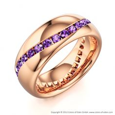 Amethyst eternity ring.....OMG!!!!! I think I found my new wedding band! Get it…