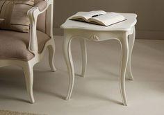 Mesa de rincón vintage Maison blanca