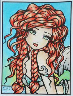 """Whimsy Girls 1 """"Vanessa"""" Mon premier coloriage réalisé dans le livre d'Hannah…"""