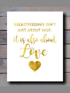 This beautiful golden print is perfect as a gift or to decorate your own home or office. #affiliate #breastfeeding #baby #quote #decor