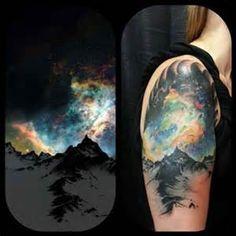 aurora borealis arm tattoo - Bing images