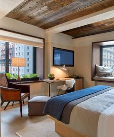 A guest room at 1 Hotel Central Park