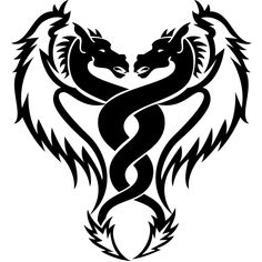 Black And White Dragon Tattoo Designs