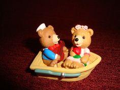 1996 Merry Miniature Valentine Bear Sweetheart Cruise NIB MINT 3 pc set