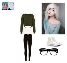 """""""One More Time Alliegh"""" by cuddlysmolbeane ❤ liked on Polyvore featuring Converse, River Island, ZeroUV, story, crankgameplays and apocalypto_12"""