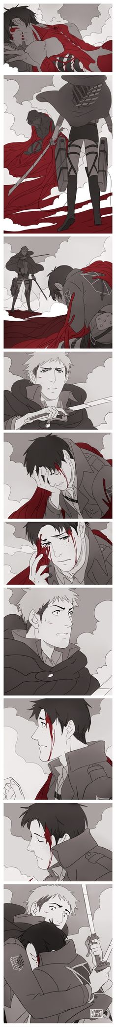 SnK- Marco x Jean- OMFG wat if this actually happened in the show<I would be soooo happy!!