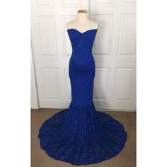 Royal Blue Lace Maternity Gown Mermaid Slim Fit Maternity Dress... (£67) ❤ liked on Polyvore featuring maternity, black, dresses and women's clothing