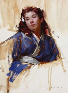 Jeremy Lipking - Kimono Study