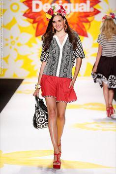 Desigual (Spring-Summer 2015) R-T-W collection at New York Fashion Week  #AdrianaLima #AlexandraAgoston #AlinaTatcy #AngelaRuiz #AnnelotdeWaal #BellaHadid #ChenLin #ChloeNorgaard #DanielaAciu #DanieladeJesus #DanielleEvans #Desigual #EvaStaudinger #IrynaLysogor #KaylaClarke #KelyFerr #KristineZandmane #MarinaAlbino #MaryPierce #NadjaGiramata #NewYork #PhilippaBingham #PingHueCheung #ShenaMoulton #SveaKloosterhof #TamaraZhukova