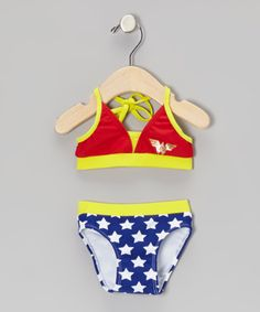 Red & Blue Wonder Woman Bikini - Infant & Toddler | Daily deals for moms, babies and kids