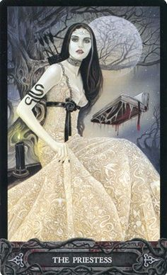 The Daniels Tarot of Vampires Carmilla, Gothic Artwork, Major Arcana, Oracle Cards, Tarot Decks, Deck Of Cards, Dark Art, The Magicians, Yin Yang
