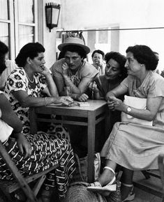 Israel, Tel Aviv. May, 1949. Armon Café, on Hayarkan Street.