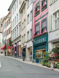 At the historical part of Basel - Switzerland Europe Street, Visit Switzerland, Beaux Villages, Belle Villa, European Countries, Street Photo, Basel, Zurich, Vacation Spots