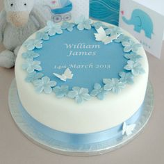 personalised boys christening cake kit by clever little cake kits | notonthehighstreet.com